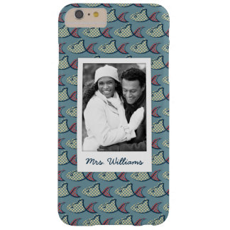Polka Dot Fish Pattern | Your Photo & Name Barely There iPhone 6 Plus Case