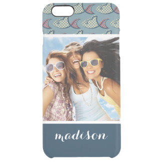 Polka Dot Fish Pattern | Your Photo & Name Clear iPhone 6 Plus Case