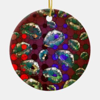 Polka-dot Florescent Lips Christmas Ornament