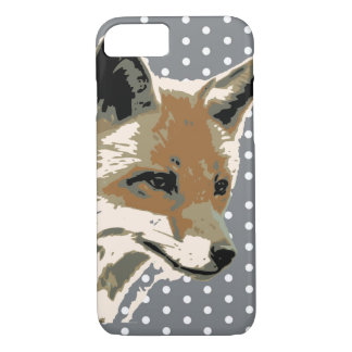 Polka Dot Fox Face iPhone 7 Case