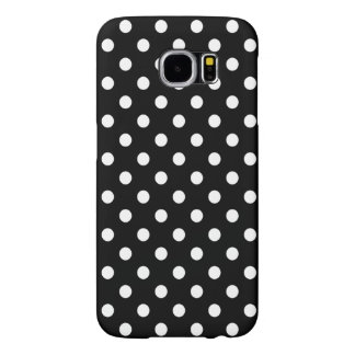 Polka Dot Galaxy S6 Case in Black and White
