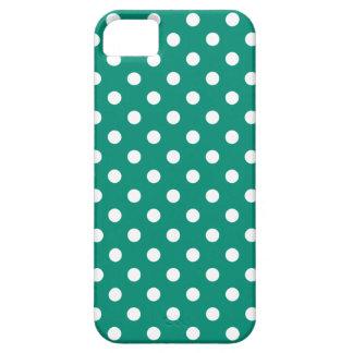 Polka Dot iPhone 5/5S Case in Ultramarine Green