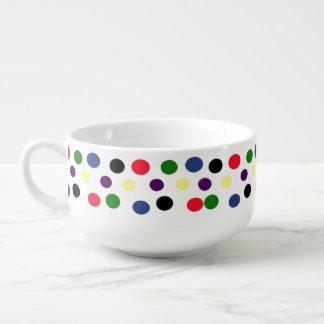 Polka Dot MulitiColored Soup Mug