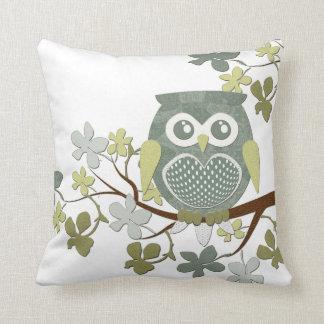 Polka Dot Owl in Tree Cushions