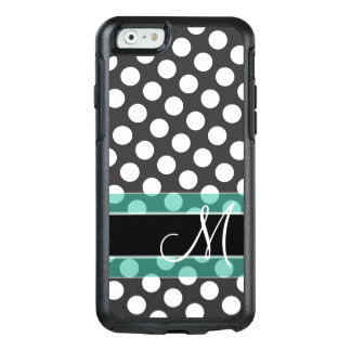 Polka Dot Pattern with Monogram OtterBox iPhone 6/6s Case