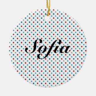 Polka Dot Personalized Ornament