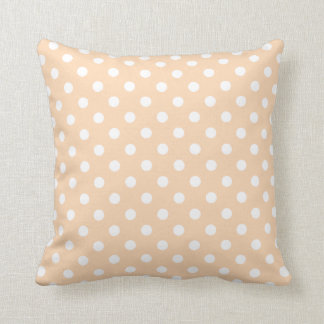 Polka Dot Pillow in Apricot