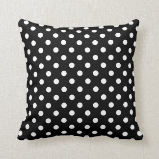 Polka Dot Pillows in Black and White Throw Cushions