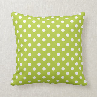 Polka Dot Pillows in Bright Chartreuse Cushions