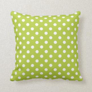 Polka Dot Pillows in Bright Chartreuse Cushions