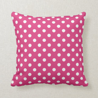 Polka Dot Pillows in Cabaret Red Throw Cushions