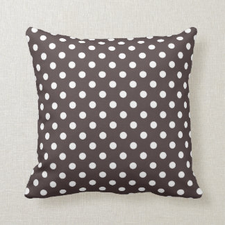 Polka Dot Pillows in French Roast Brown Cushion