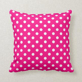 Polka Dot Pillows in Hot Pink