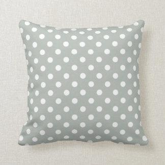 Polka Dot Pillows in Silver Gray Throw Cushion