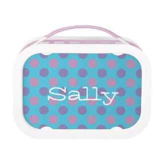 Polka dot print lunchkit lunch box