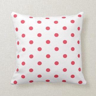 Polka Dot Red Pillow