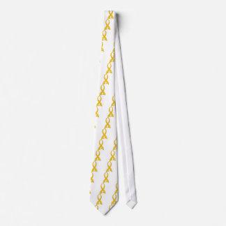 Polka Dot Ribbon Childhood Cancer Tie