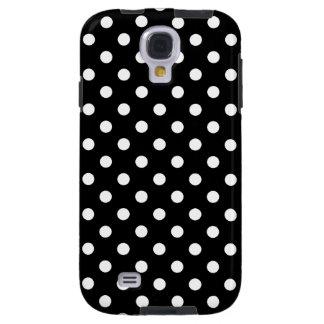 Polka Dot Samsung Galaxy S4 Case Black and White