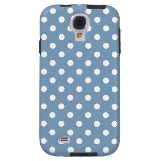 Polka Dot Samsung Galaxy S4 Case in Dusk Blue
