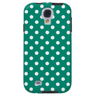 Polka Dot Samsung Galaxy S4 Case in Emerald Green