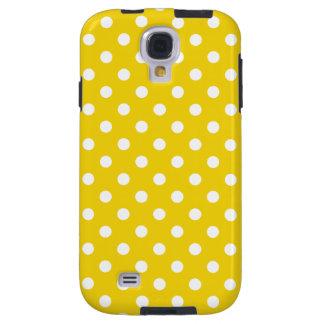 Polka Dot Samsung Galaxy S4 Case in Lemon Yellow