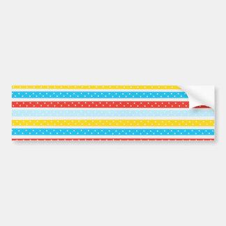 Polka Dot Summer Stripes Bumper Sticker