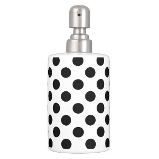 Polka Dot Toothbrush Holder + Soap Dispenser