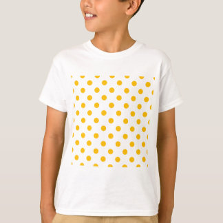 Polka Dots - Amber on White T-Shirt