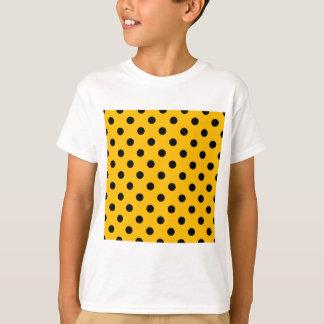 Polka Dots - Black on Amber T-Shirt