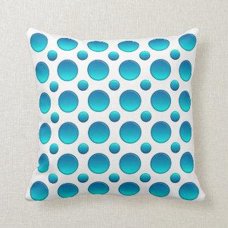 Polka dots blue element throw pillow
