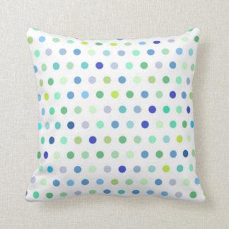 Polka Dots - Blue & Green Throw Cushions