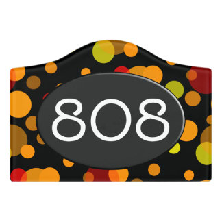 Polka Dots chaos colored 1 + your backgr. Door Sign