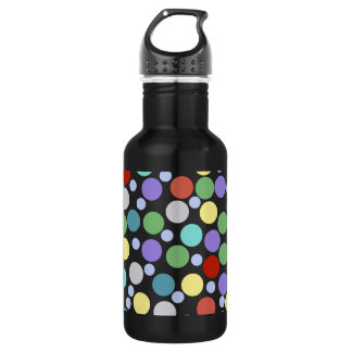 polka dots colored texture 532 ml water bottle