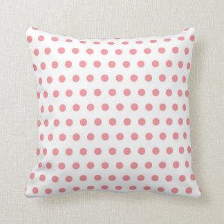 Polka Dots - Coral Cushion