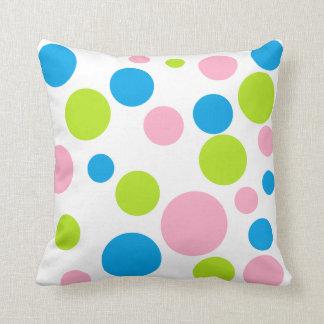 """Polka Dots"" Throw Pillow"