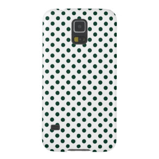 Polka Dots - Dark Green on White Galaxy S5 Cases