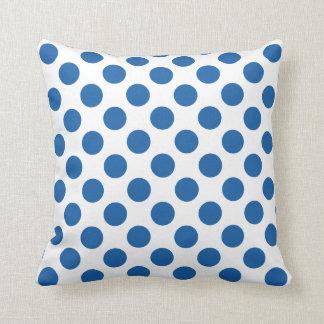 Polka Dots Dazzling Blue Throw Cushions