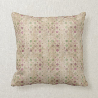 Polka Dots in Purple and Green Pillow