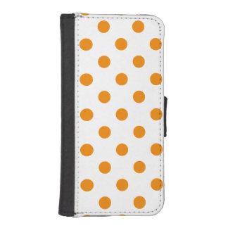 Polka Dots Large - Tangerine on White