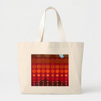 Polka Dots Madness - Moonlight Bronze Large Tote Bag
