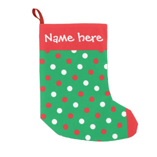 Polka Dots on Green Christmas Stocking