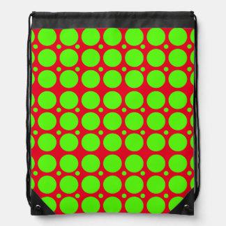 Polka Dots Pattern Drawstring Bag