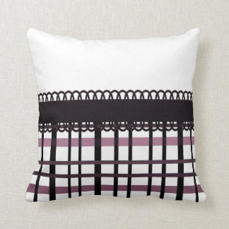 Polka Dots & Plaid Party ~ Pink Cushion