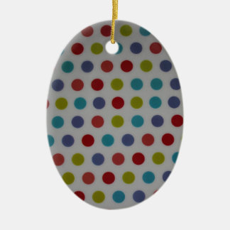 Polka dots products christmas ornament