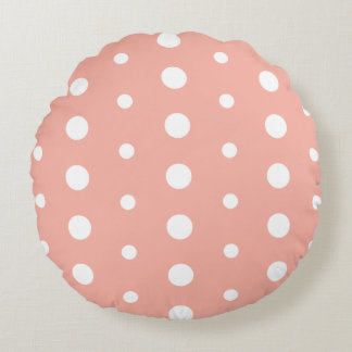 Polka Dots Round Cushion