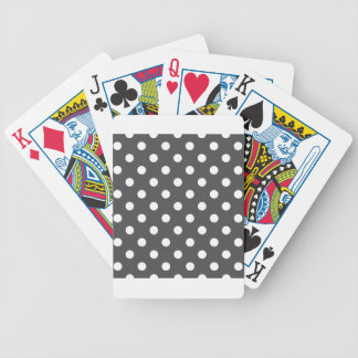 Polka Dots - White on Dark Gray Bicycle Playing Cards