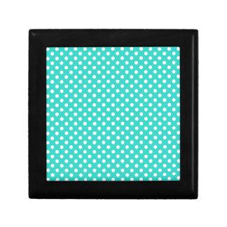 Polka Dots - White on Turquoise Gift Box