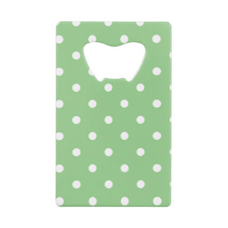 Polka Dotted Pattern, Polka Dots - Green White