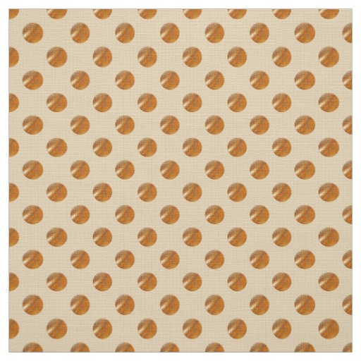 Polka golden dots fabric