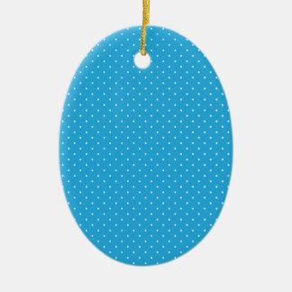 Polka White Dots Image Christmas Ornament
